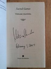 SIGNED & DATED Sacred Games by Vikram Chandra Hardcover 1/1 + PIC Unread New