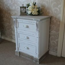 Lyon Range Cream Three Drawer Bedside Table bedroom furniture French country