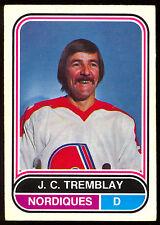 1975 76 OPC O PEE CHEE WHA 130 J.C. TREMBLAY VG-EX QUEBEC NORDIQUES HOCKEY CARD