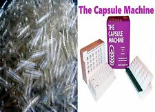 """0"" THE CAPSULE MACHINE Filler Filling Vitamins Herbs + 500 CLEAR Capsules"