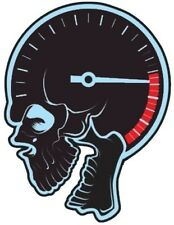 SKULL SPEEDOMETER FACE BUMPER STICKER HELMET STICKER LAPTOP STICKER