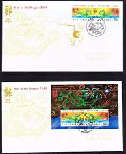 Christmas Island 2000 Year of the Dragon  (2) First Day Cover  APM33670