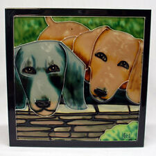 TILE CRAFT - Decorative Tile - DACHSHUNDS - #2159C