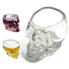 Crystal Glass Vodka Whiskey Skull Head Shot Cup Drinking Ware Home Bar beer New