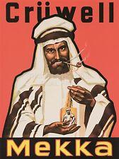 Impresión arte cartel publicidad de tabaco cruwell Mekka Rojo nofl1097