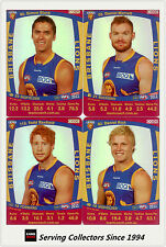 2011 AFL Teamcoach Trading Cards Silver Parallel Team Set Brisbane (11)