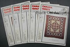 Lot of Five Canada Quilts Magazines 1988 Issues 72 To 76 Vol. XVII No 1 2 3 4 5