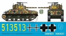 Peddinghaus 1/16 M4A2(75)W Sherman German Captured Tank Markings Frundsberg 3204