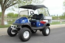 Custom Club Car Golf Cart! American Flag Paint Theme! Lifted! Brand New Interior