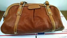 Cole Haan top quality leather handbag duffle bag purse 3 zippered comparments