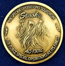 USAF 4th SOS Special Operations SQ Spooky Gunship AC-130U Challenge Coin KC-7