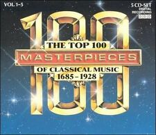 The Top 100 Masterpieces of Classical Music, Vols. 1-5 (CD, Nov-1991) #2537
