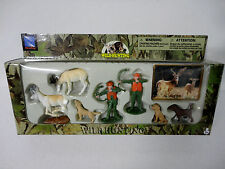 NEW Play Set ANTELOPE DEER Bow Hunters Wild Hunting Figurines Cake Topper Toys!