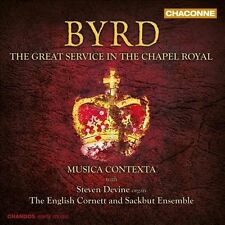 Byrd: The Great Service in the Chapel Royal (CD, May-2012, Chandos) Free Ship !!
