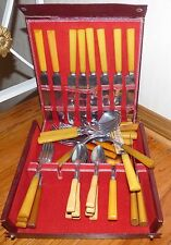 Vintage Butterscotch Bakelite Flatware Set 35 pieces