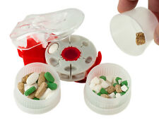 ProRxDisc 18 Cavity Pill Cutter + Catch Cup + 2 Containers to Cut and Store Meds