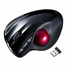 New Sanwa Supply Wireless Laser Mouse With Trackball MA-WTB43BK From Japan F/S