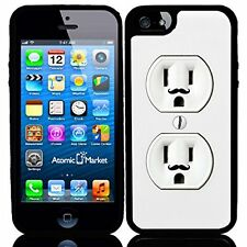 Wall Outlet Duplex With Mustache For Iphone 6 Case Cover