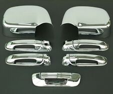 2002-2008 DODGE RAM 4DR CHROME DOOR HANDLE + MIRROR + TAILGATE COVER + NO PSG KH