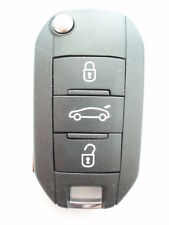 Replacement 3 button flip key case for Peugeot 508 5008 remote key