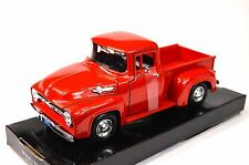 FORD F-100 PICKUP 1956 MOTORMAX AMERICAN CLASSICS 73235 1:24 NEW DIECAST RED