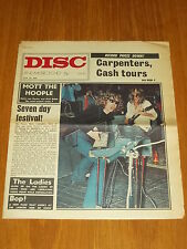 DISC AND MUSIC ECHO JULY 24 1971 CARPENTERS MOTT THE HOOPLE JOHNNY CASH LADIES