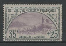"""FRANCE STAMP TIMBRE 152 """" ORPHELINS 35c+25c TRANCHEE DRAPEAU """" NEUF xx TB  N797"""