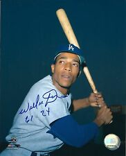 Signed  8x10 WILLIE DAVIS Los Angeles Dodgers  Autographed photo - COA