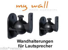 2 x Boxen Lautsprecher Halter Wandhalter Wandhalterung Wand Halterung schwarz