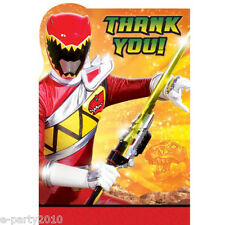 POWER RANGERS Dino Charge THANK YOU NOTES (8) ~ Birthday Party Supplies Cards