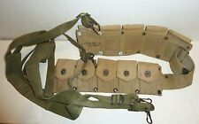 Estate ~ WWII U.S. Military Ammo Belt & Harness 1942 DATED Hinson Mfg. WW2