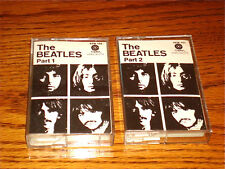 BEATLES WHITE ALBUM ORIGINAL CASSETTES PART 1 AND PART 2