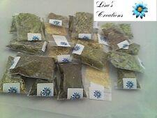90 HERB KIT Pagan Wiccan Muslin bags, White Sage wand, mini Mortar Pestle
