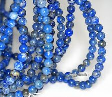 8MM AZURA LAPIS LAZULI GEMSTONE BLUE ROUND 8MM LOOSE BEADS 16""