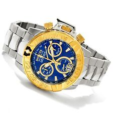 New Invicta Reserve 10647 Mens Subaqua Noma II Swiss Chro Blue Gold Dial Watch