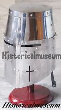 CRUSADER ARMOUR TEMPLAR KNIGHT HELMET-WITH STEEL POLISH  DESIGN HELMET D5FWF,S3D