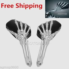 Chrome Skull Skeleton Hand Mirrors for Suzuki Intruder Volusia VS 700 800 1400