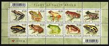 South Africa 2000 Frogs of South Africa Sheet. MNH