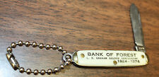 Antique Knife - BANK OF FOREST Mississippi - L E Graham 50th Anniversary 1924-74