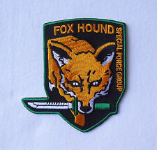Metal Gear FOX HOUND Special Forces EMBROIDERED HOOK  PATCH