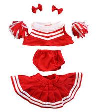 """Bear Vestiti Rosso Bianco Cheerleader costume per adattarsi 15"""" Build A Bear Peluche Teddy"""