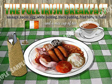 THE FULL IRISH BREAKFAST  RETRO DINER  KITCHEN:HOUSE DECOR:IDEAL GIFT METAL SIGN