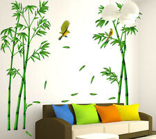 DIY Wall Sticker Room Home Decor Removable Decoration Mural Green Bamboo Birds