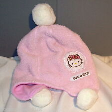 Hello Kitty with Pom Poms Embroidered Pullover Cap Hat by Sanrio •