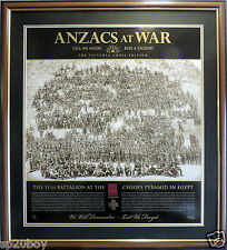 THE SPIRIT OF ANZAC GALLIPOLI ANZACS AT WAR VICTORIA CROSS LTD EDITION FRAMED
