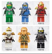 6 PC Ninjago MINI FIGURE Cole Jay KAI Zane Nya LLOYD accoppiamenti LEGO 10011-10016