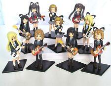 K ON K-ON Hirasawa Yui Akiyama Mio Japan Anime Figure Toys Set of 10pcs