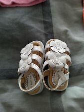 Little girls white sandals