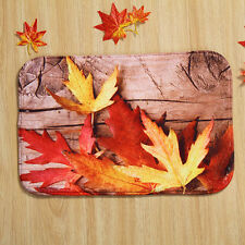 40cmX60cm Maple Leaf Door Mat Floor Pad Lifelike Rug Carpet Bathroom  Quality