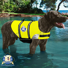 PAWS ABOARD Dog Life Jacket Yellow Swim Safety Vest X-Large Over 90 lb XL NEW